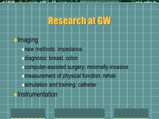 Research at GW