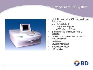 BD ProbeTec™ ET System