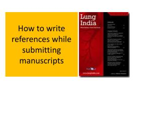 How to write references while submitting manuscripts
