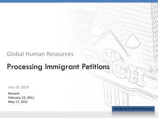Processing Immigrant Petitions