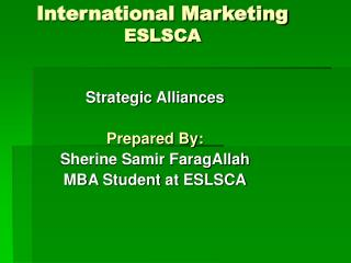 International Marketing ESLSCA