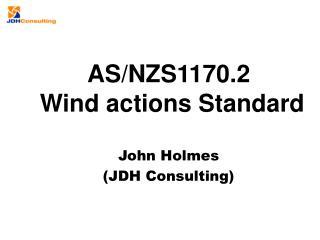John Holmes (JDH Consulting )
