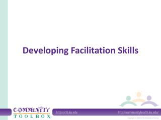 Developing Facilitation Skills