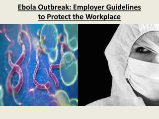 Ebola Outbreak: Employer Guidelines to Protect the Workplace
