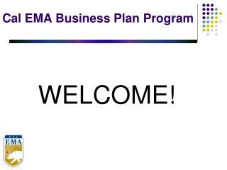 Cal EMA Business Plan Program