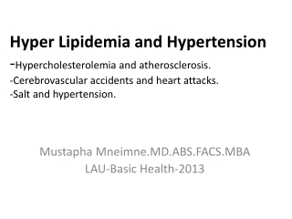 COMPLICATIONS OF ATHEROSCLEROSIS:  THE CLINICAL SYNDROMES