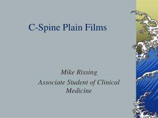C-Spine Plain Films