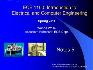 ECE 1100: Introduction to Electrical and Computer Engineering