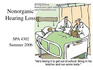 Nonorganic Hearing Loss