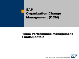 Team Performance Management Fundamentals