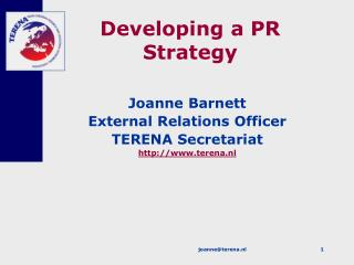 Developing a PR Strategy