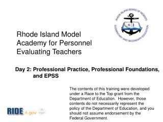 Rhode Island Model Academy for Personnel Evaluating Teachers