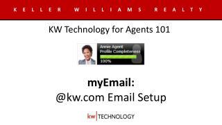 myEmail : @kw Email Setup