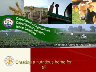 Creating a nutritious home for all