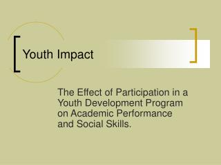 Youth Impact