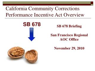 California Community Corrections Performance Incentive Act Overview