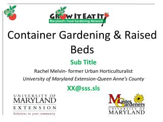 Container Gardening & Raised Beds