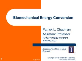Biomechanical Energy Conversion