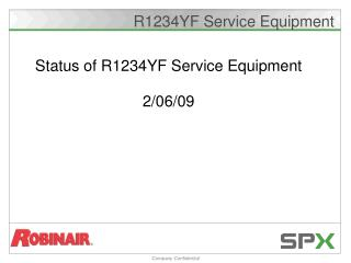 R1234YF Service Equipment