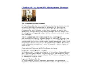 Cincinnati Day Spa Olde Montgomery Massage
