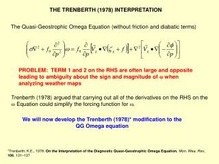 The Quasi-Geostrophic Omega Equation (without friction and diabatic terms)