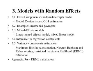 3. Models with Random Effects