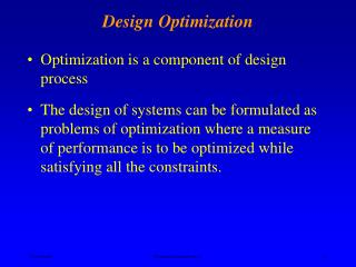 Design Optimization