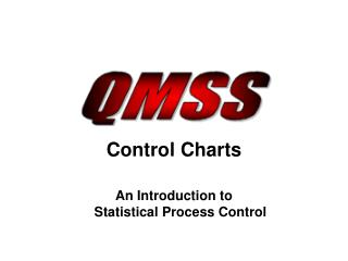 Control Charts An Introduction to  Statistical Process Control