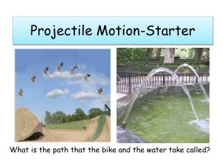 Projectile Motion-Starter
