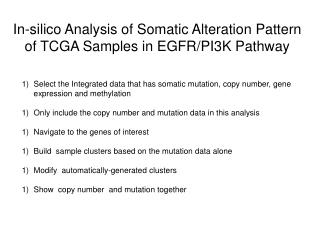 In-silico Analysis of Somatic Alteration Pattern of TCGA Samples in EGFR/PI3K Pathway