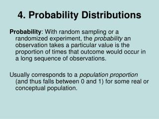 4. Probability Distributions