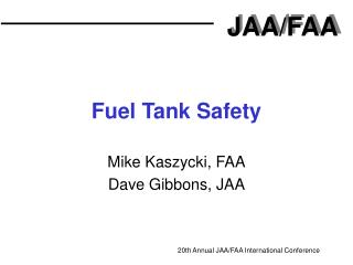 Fuel Tank Safety