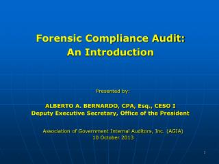 Forensic Compliance Audit: An Introduction