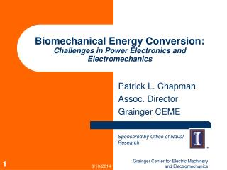 Biomechanical Energy Conversion: Challenges in Power Electronics and Electromechanics