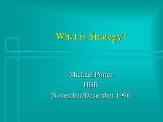 What is Strategy?