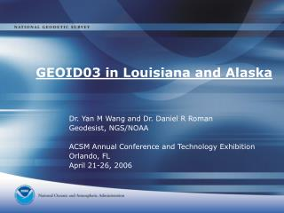 GEOID03 in Louisiana and Alaska