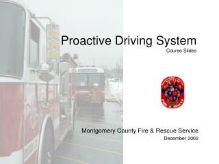 Proactive Driving System Course Slides