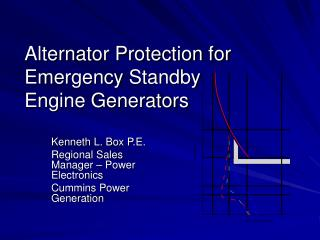 Alternator Protection for Emergency Standby  Engine Generators