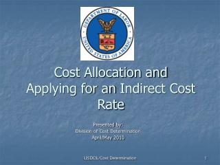 Cost Allocation and Applying for an Indirect Cost Rate