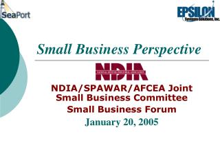 Small Business Perspective