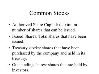 Common Stocks