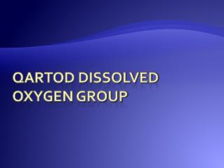 QARTOD Dissolved Oxygen group