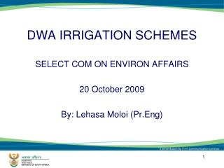 DWA IRRIGATION SCHEMES