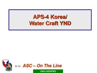 APS-4 Korea/ Water Craft YND