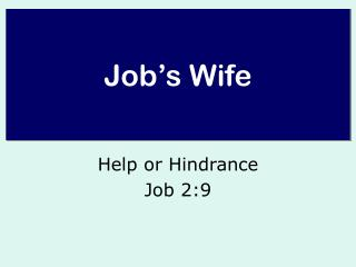 Job's Wife