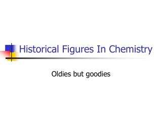 Historical Figures In Chemistry