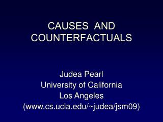 CAUSES  AND COUNTERFACTUALS