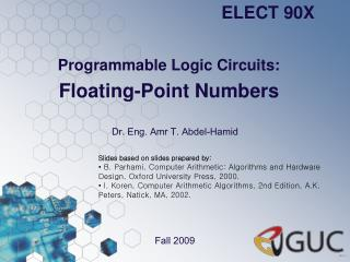 Programmable Logic Circuits: Floating-Point Numbers