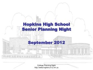 Hopkins High School Senior Planning Night