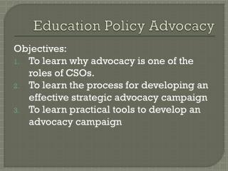 Education Policy Advocacy